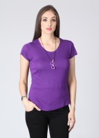 Mohr Casual Short Sleeve Solid Women's Top
