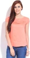 Shibori Designs Casual Short Sleeve Solid Women's Top