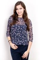 Pique Republic Casual 3/4 Sleeve Floral Print Women's Top