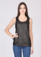 Latin Quarters Party Sleeveless Solid Women's Top