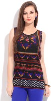 Global Desi Casual Sleeveless Geometric Print Women's Top