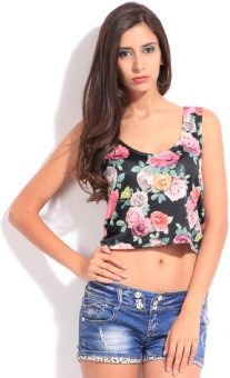 Only Casual Sleeveless Floral Print Women's Top