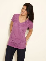 Sepia Casual Short Sleeve Solid Women's Top