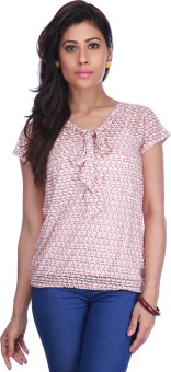 Stop To Start Casual Short Sleeve Printed Women's Top