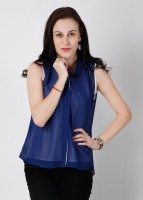 Wills Lifestyle Casual Sleeveless Solid Women's Top