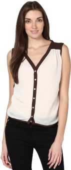 Palette Casual Sleeveless Solid Women's Top