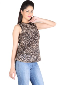 Rute Casual Sleeveless Animal Print Women's Top