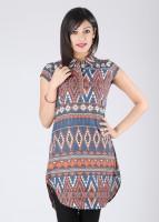 Mumbai Slang Casual Short Sleeve Printed Women's Top