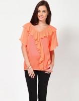 Kaxiaa Casual Short Sleeve Solid Women's Top