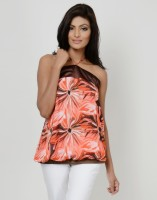 Martini Party Sleeveless Printed Women's Top
