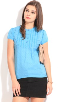 Style Quotient By Noi Casual Short Sleeve Solid Women's Top