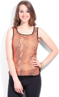 Latin Quarters Casual Sleeveless Printed Women's Top