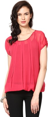 Taurus Party Short Sleeve Solid Womens Top