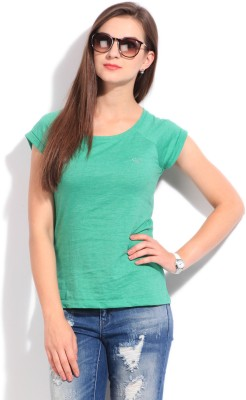 Bossini Bossini Casual Short Sleeve Solid Women's Top (Cyan)