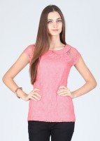 Latin Quarters Casual Short Sleeve Solid Women's Top