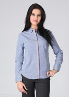 Scullers Formal Full Sleeve Checkered Women's Top