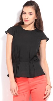 Allen Solly Casual Short Sleeve Solid Women Top