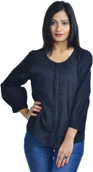 Pankhuri For Women Formal Full Sleeve Solid Women's Top
