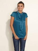 Esprit Casual Short Sleeve Solid Women's Top