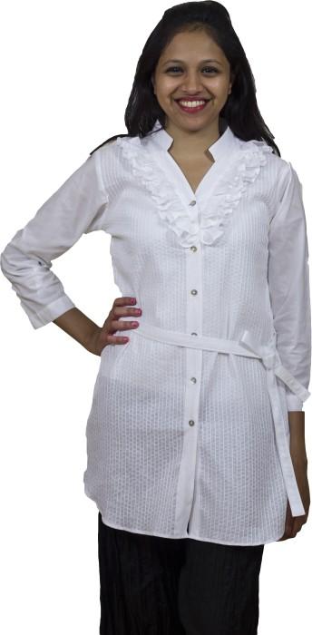 Mayank Modi Casual 3/4 Sleeve Striped Women's Top