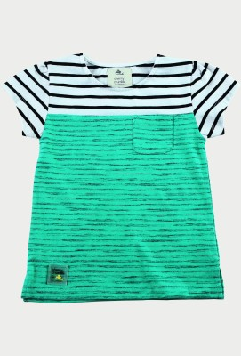 Cherry Crumble California Casual Short Sleeve Solid Baby Girl's Green Top