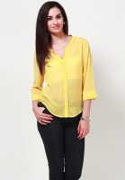 Tops And Tunics Casual 3/4 Sleeve Solid Women's Top