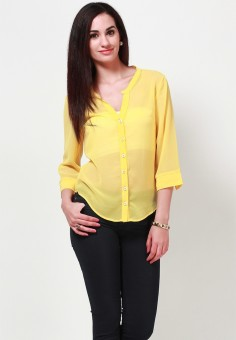 Tops and Tunics Casual 34 Sleeve Solid Women Top