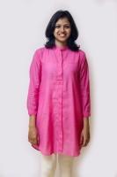 Mayank Modi Casual 3/4 Sleeve Solid Women's Top