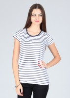 Amari West Casual Short Sleeve Striped Women's Top