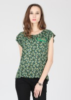 Alibi Casual Short Sleeve Printed Women's Top