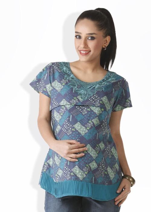 Morph Maternity Casual Short Sleeve Women's Top - TOPDVGX9KFM9RQXC