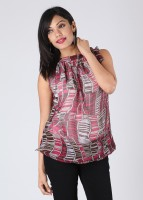 Hot Berries Casual Sleeveless Printed Women's Top