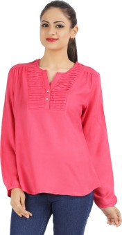Victor Brown Casual Full Sleeve Solid Women's Top