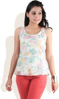 DONE BY NONE Casual Sleeveless Printed Women's Top