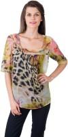 Gypsy Soul Casual Short Sleeve Animal Print Women's Top