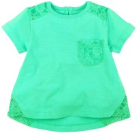 Babyoye Premium Casual Short Sleeve Solid Baby Girl's Blue Top