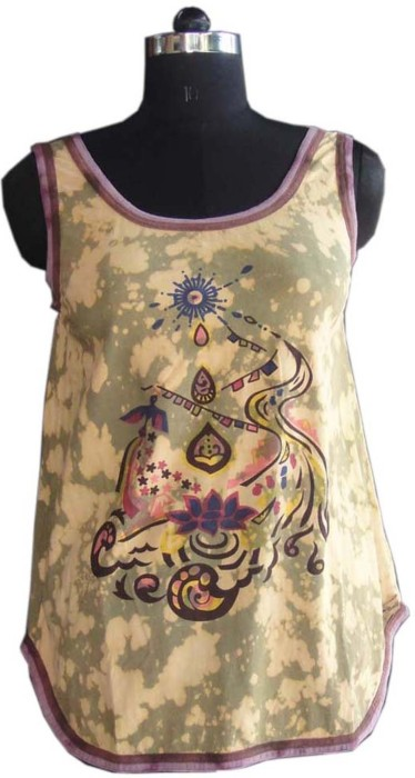 Beautiful Clothes Casual Sleeveless Printed Women's Top