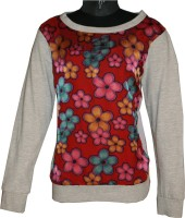 Posh Kids Casual Full Sleeve Solid Baby Girl's Grey Top