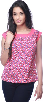 Eliza Donatein By Shoppers Stop Casual Short Sleeve Printed Women's Top