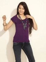109F Casual 3/4 Sleeve Solid Women's Top