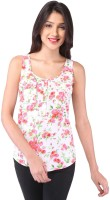 Purys Casual Sleeveless Floral Print Women's Top