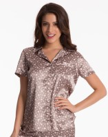PrettySecrets Casual Short Sleeve Polka Print Women's Top