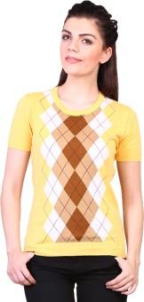 Kalt Casual Short Sleeve Geometric Print Women's Top