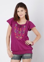 Mineral Casual Solid Women's Top
