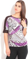 Style Quotient By Noi Casual Short Sleeve Geometric Print Women's Top