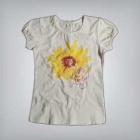 Gini & Jony Casual Short Sleeve Solid Baby Girl's White Top