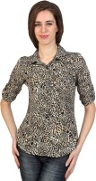 Identiti Casual Roll-up Sleeve Printed Women's Top