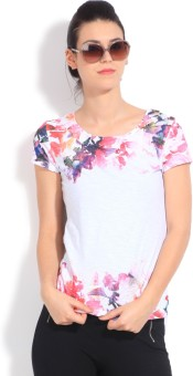 United Colors Of Benetton Casual Short Sleeve Printed Women's Top