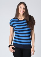 Noi Casual Short Sleeve Striped Women's Top