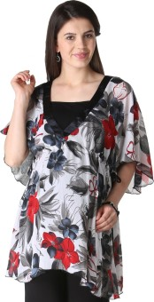 Morph Maternity Casual Short Sleeve Floral Print Women's Top